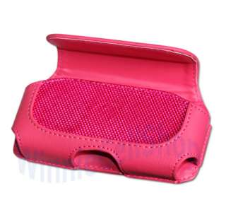 Brand New High Quality Hot Pink Leather Belt Clip Case for Samsung