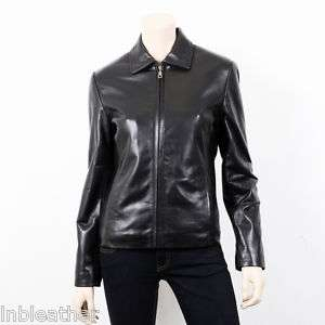 FINAL SALE   Short Black Lambskin Leather Jacket   S