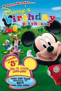 MICKEY MOUSE CLUBHOUSE BIRTHDAY INVITATIONS INVITES upk