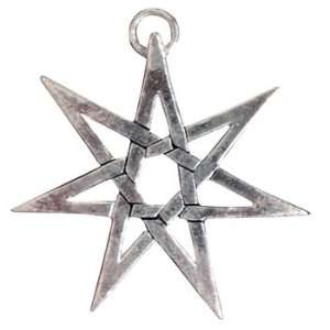 Sterling Silver Sigils of the Craft Heptagram Charm for