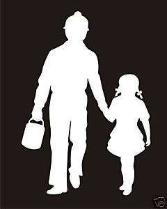 Coal Miner and Daughter Decal Sticker FAST FREE SHIPPING! Check it out