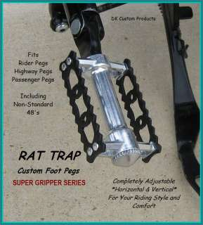 SGS RAT TRAP FOOT PEGS FLOORBOARD HARLEY DAVIDSON DYNA