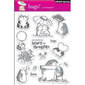 Penny Black Clear Stamp Set, Hugs Arts, Crafts & Sewing