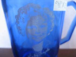 VINTAGE SHIRLEY TEMPLE Signature cobalt Small PITCHER 4 Creamer