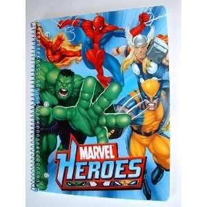 notebook (Spider man Hulk Thor Human Torch Wolverine)