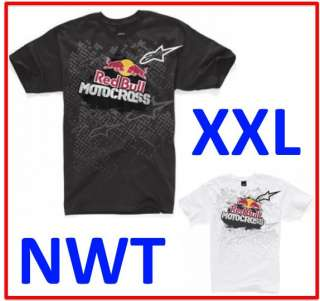 RED BULL ALPINESTARS Mens XXL 2XL GRIT Moto Super MX Cross T TEE