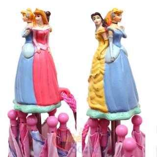 Disney Princess Umbrella Rain/Sun/Snow Pink Belle Cinderella Ariel