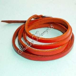 Vintage Leather Buckle Belt Bracelet Wristband Red Cool