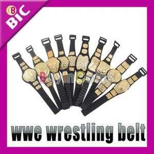 10 X WWE Wrestling Championship Toy Action Figure Belt