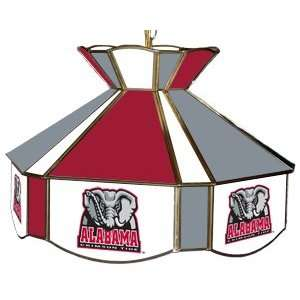 Alabama Crimson Tide College Stained Glass Swag Light, 16W x 12H (w