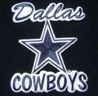 DALLAS COWBOYS STAR WRITTEN LOGO NFL FOOTBALL PATCH