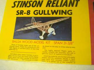 STERLING* STINSON RELIANT SR 8 GULLWING * F/F MODEL AIRPLANE KIT