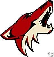 PHOENIX COYOTES Logo NHL Window STICKER Car DECAL