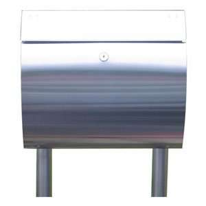 EuropeanHome Stainless Steel Curb Appeal Mailbox and Stand