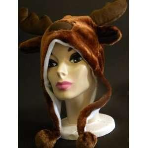 Plush Deer Reindeer Animal Hat High Quality polyester