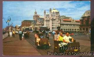 Rolling Chairs On Boardwalk Atlantic City NJ PC 1954