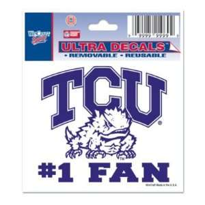 TCU HORNED FROGS 3X4 ULTRA DECAL WINDOW CLING Sports