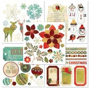BASIC GREY BasicGrey Holiday ~JOVIAL~ Rub Ons Book Olio 5 Sheets