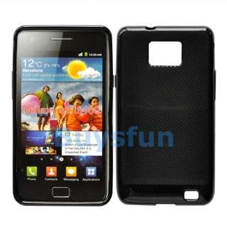 Black Gel TPU Cover Case SAMSUNG GALAXY S2 S 2 II I9100