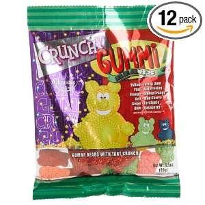 Albanese Crunchy Gummie Bears, 3.5 Ounce Bags (Pack of 12)