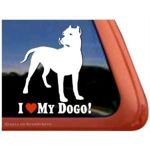 I Love My Dogo Dogo Argentino Dog Vinyl Window Decal Dog