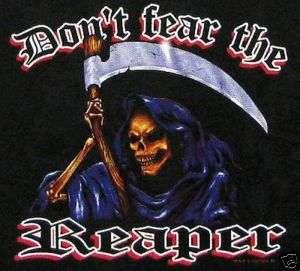 DONT FEAR THE REAPER DEATH SKULL SKELETON T SHIRT XT27