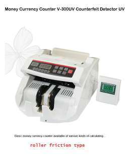Money Currency Counter V 300UV Counterfeit Detector UV