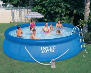 INTEX 15 x 42 Easy Set Swimming Pool w/ Pump & Ladder 078257398393