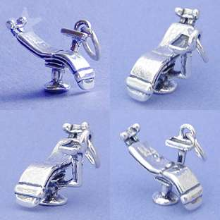DENTAL DENTIST CHAIR Sterling Silver Charm Pendant