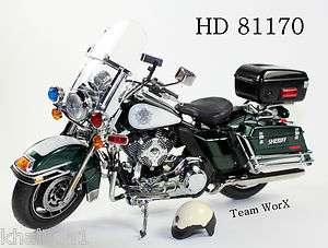 2011 Harley Davidson FLHRC Road King Diecast Sheriff Motorcycle 112