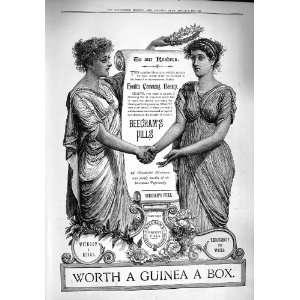 1890 Advertisement Beechams Pills Medicine