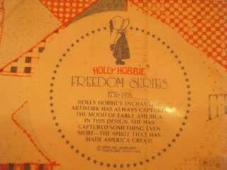 HOLLY HOBBIE FREEDOM SERIES 1776 1976 PLATE.