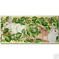 Rabbit Bunny Wall Border by Donna Dewberry
