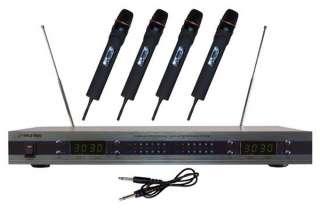 Pyle Pro PDWM5500 4 Mic VHF Wireless Microphone System 068888877503
