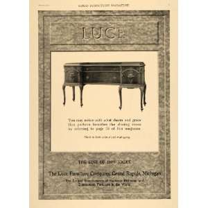 1919 Ad Buffet Table Luce Furniture Company Sideboard   Original Print