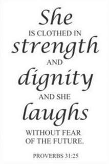 She Is Clothed In Strength And Dignity And Laughs.Vinyl Wall Decal