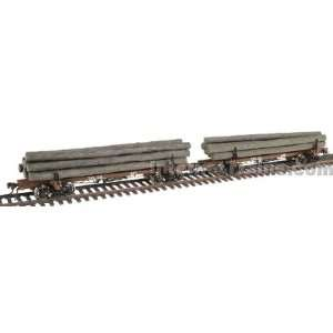 Rivarossi HO Scale Ready to Run Skeleton Log Car 2 Pack
