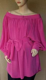 DIOR $2200 New Womens Silk Dress Top Blouse sz 46   10