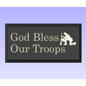 Decorative Wood Sign Plaque Wall Decor with Quote God Bless