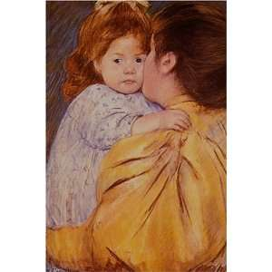 The Maternal Kiss by Mary Stevenson Cassatt, 17 x 20