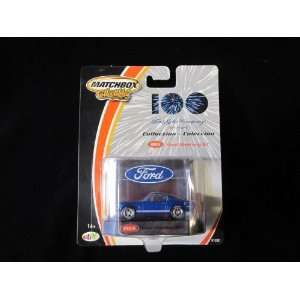 1965 Ford Mustang GT Blue Matchbox 100 Yr Ford Motor Co Collectible