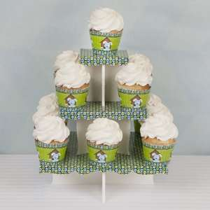 Boy Puppy Dog   Baby Shower Cupcake Stand & 13 Cupcake