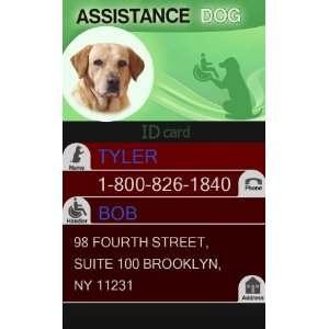 Custom ID Badge   1 Dogs Custom ID Badge   Design#1   Vertical Pet