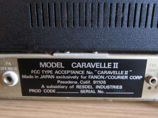 COURIER CARAVELLE ll (2)   23 Channel CB RADIO BASE STATION w/ Mic
