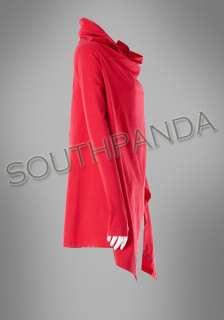 SC258 Red Vivid Pretty Punk Cloak Coat Jackets Blouse