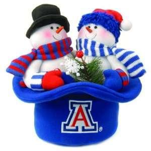 Wildcats Snowmen Top Hat Table Christmas Decoration