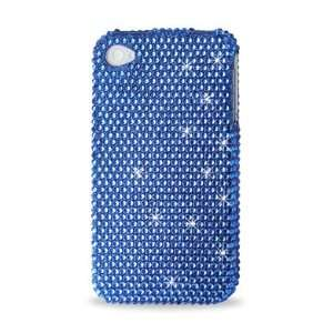 IPhone 4 4S ALL Blue Bling Diamond Hard Case Cell Phones