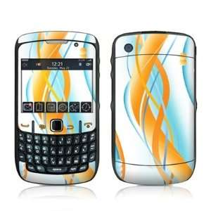 Double Helix Orange Design Skin Decal Sticker for Blackberry Curve