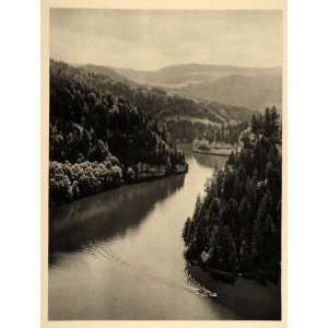 Switzerland France Doubs River   Original Photogravure Home & Kitchen
