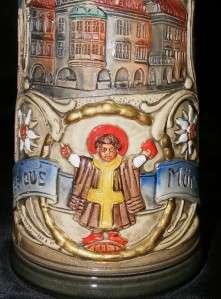 Vintage THEWALT Ceramic Lidded Beer Stein w/ Handle Made In Germany